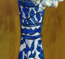 Blue and White Vase by Dawn Melka