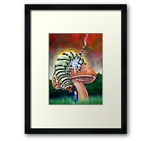 Smoking Caterpillar Framed Print