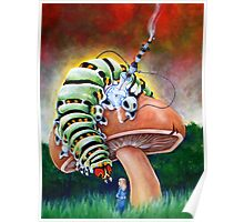 Smoking Caterpillar Poster