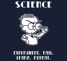 SCIENCE-- Experiment. Fail. Learn. Repeat. One Piece - Short Sleeve