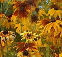 Monet's Sunflowers by Michael Carter