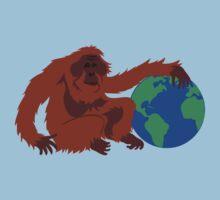 Earth Day Orangutan Kids Clothes