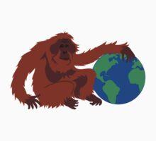 Earth Day Orangutan One Piece - Short Sleeve