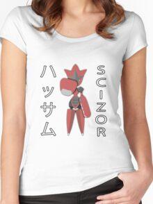 Mega Scizor Fist-Bump! Women's Fitted Scoop T-Shirt