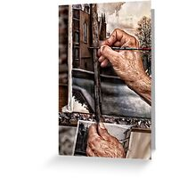 A Painter's hands Greeting Card