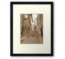 Pedestrians only! Framed Print