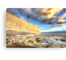 Sunset Glow - White Cliffs Canvas Print