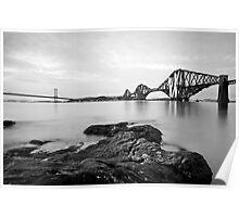 Forth Bridges at Dusk Poster