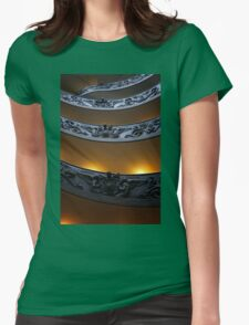 Spiral Staircase Womens Fitted T-Shirt