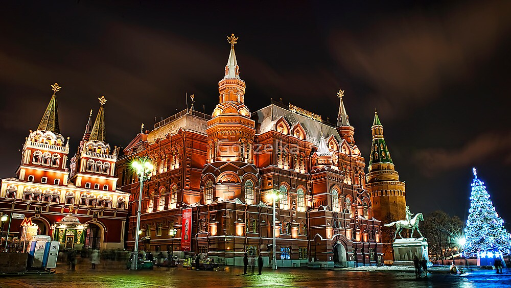 Evening Moscow by Gouzelka