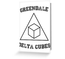 Greendale Delta Cubes Greeting Card