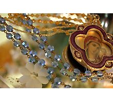 Beads and Mary Photographic Print