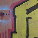 spray painted killing by fabio piretti