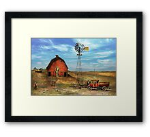 Country - ND - Dirt farming 1936 Framed Print