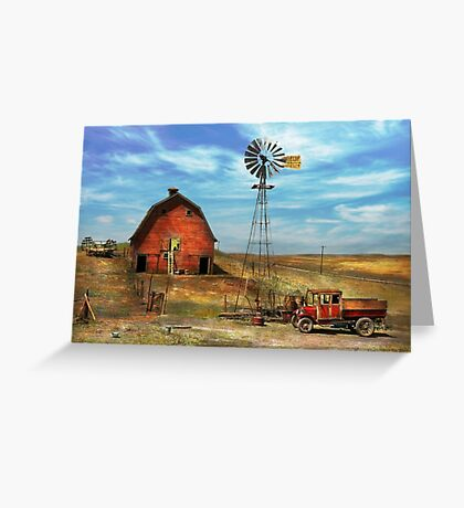 Country - ND - Dirt farming 1936 Greeting Card
