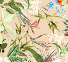 Retro Tropical Flowers Sticker
