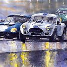 Duel AC Cobra and Shelby Daytona Coupe 1965 by Yuriy Shevchuk