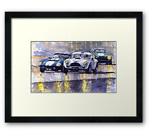 Duel AC Cobra and Shelby Daytona Coupe 1965 Framed Print