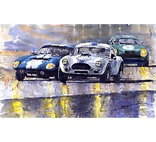 Duel AC Cobra and Shelby Daytona Coupe 1965 Photographic Print