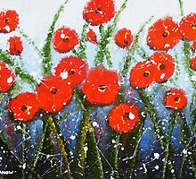 Morning Red Poppies by hjmart
