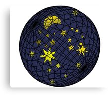 Celestial sphere with moon and stars Canvas Print