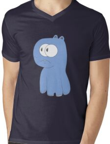 Blue Monster Mens V-Neck T-Shirt
