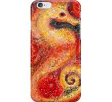 Fiery seahorse iPhone Case/Skin