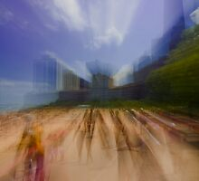 Oak Street Beach zoom blur by Sven Brogren