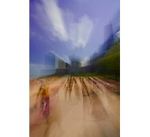 Oak Street Beach zoom blur Photographic Print