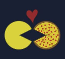 Pac-Man and Pizza by KristalStittle