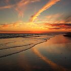 Pine Knoll Shores Winter Sunset by Tom Michael Thomas