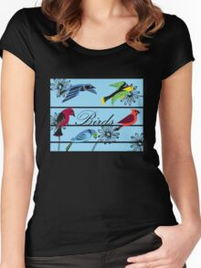 Birds Royal Women's Fitted Scoop T-Shirt