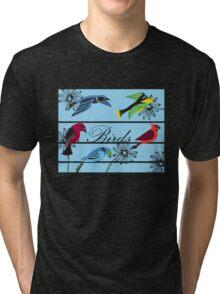 Birds Royal Tri-blend T-Shirt
