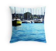 Stunning Yachts Throw Pillow