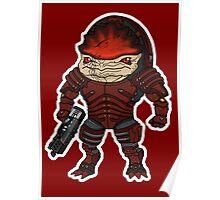 Mass Effect 3: Urdnot Wrex Chibi  Poster