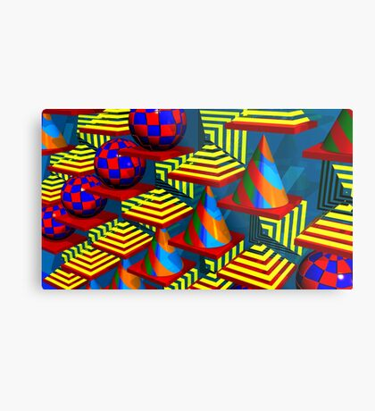 Abstract  With Patterns Metal Print