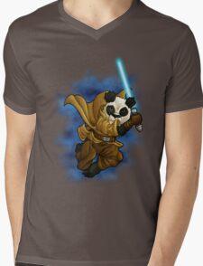 Panda Jedi Mens V-Neck T-Shirt