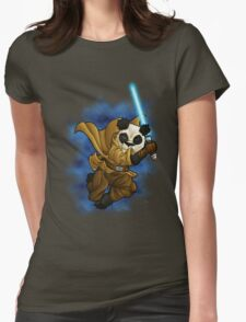 Panda Jedi Womens Fitted T-Shirt