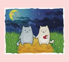 Cats under the moon One Piece - Long Sleeve
