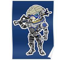 Mass Effect 3: Garrus Vakarian Chibi Poster