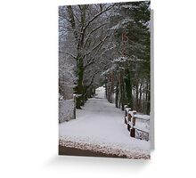 Snow covered Greeting Card