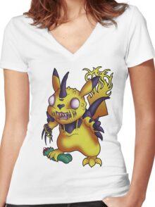 Legion of Pikachu Women's Fitted V-Neck T-Shirt