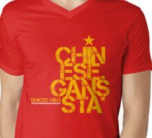 Chinese Gan$sta Mens V-Neck T-Shirt