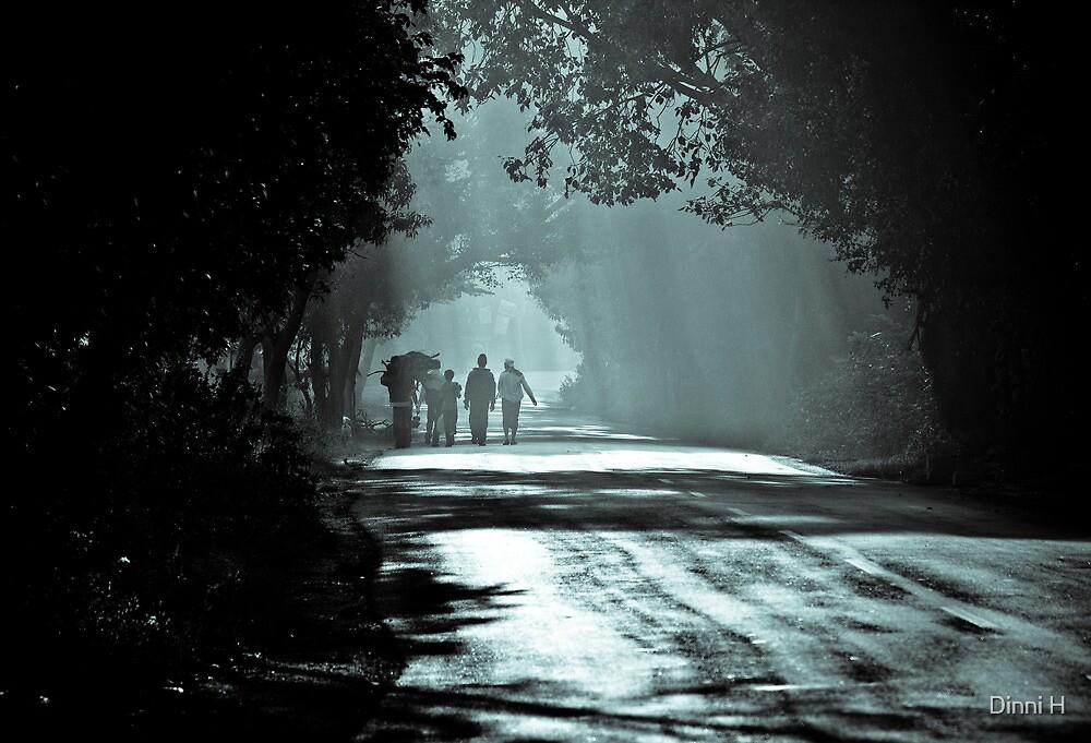 Village Walk by Dinni H