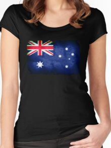 Grungy Australian flag Women's Fitted Scoop T-Shirt