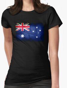 Grungy Australian flag Womens Fitted T-Shirt