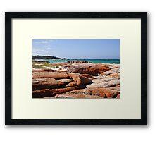 Coloured rocks! Framed Print