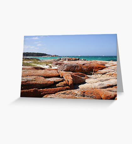 Coloured rocks! Greeting Card