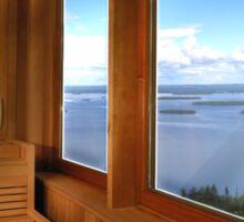 Finland Sauna Interior Sticker