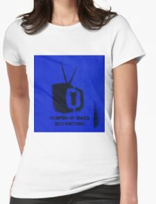 Weapon of mass distraction  Womens Fitted T-Shirt